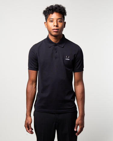 Raf Simons Laurel Detail Polo Black 1