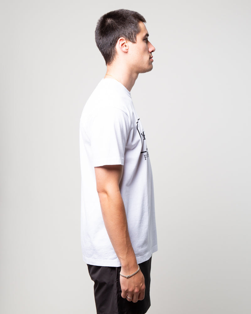 Bar & Shield SS Tee White