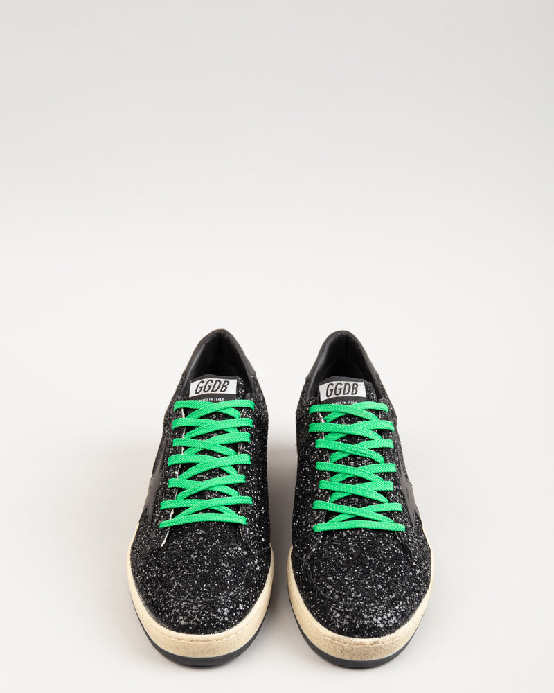 Ball Star Black Glitter/Green Laces