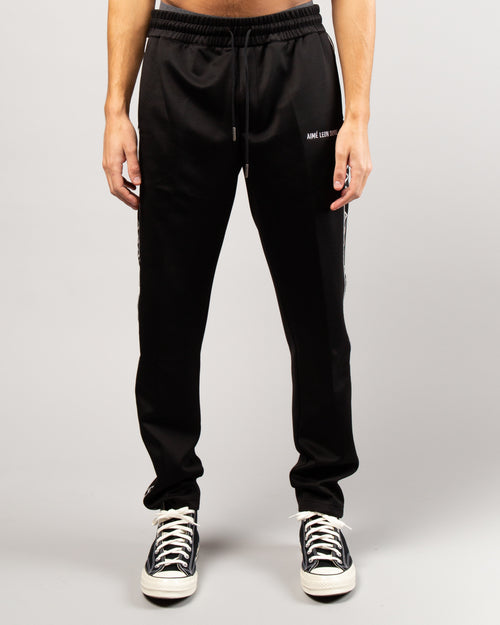 Greek Letter Track Pants Black 1