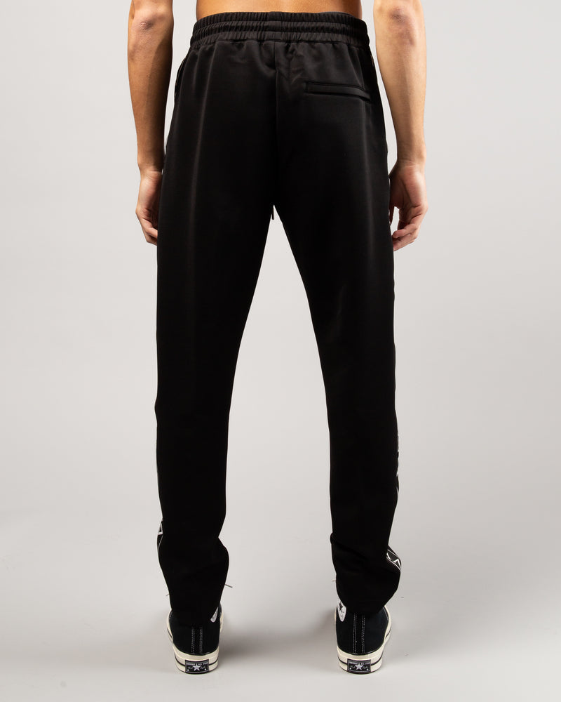 Greek Letter Track Pants Black