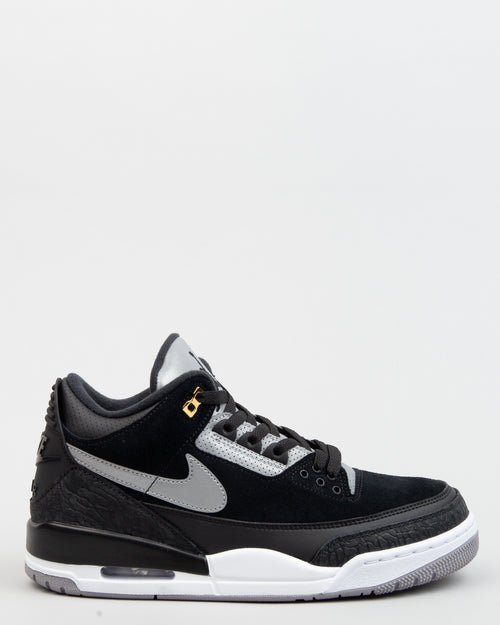 Air Jordan 3 Retro Tinker Black/Cement Grey/Metallic Gold 1