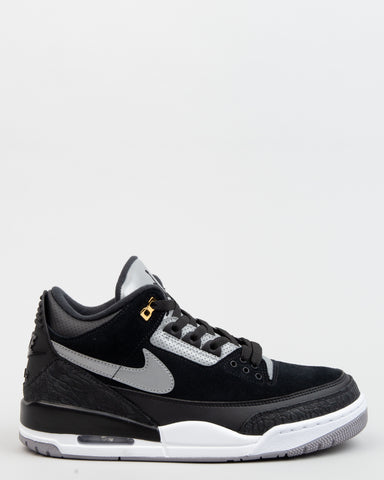 Air Jordan 3 Retro Tinker Black/Cement Grey/Metallic Gold