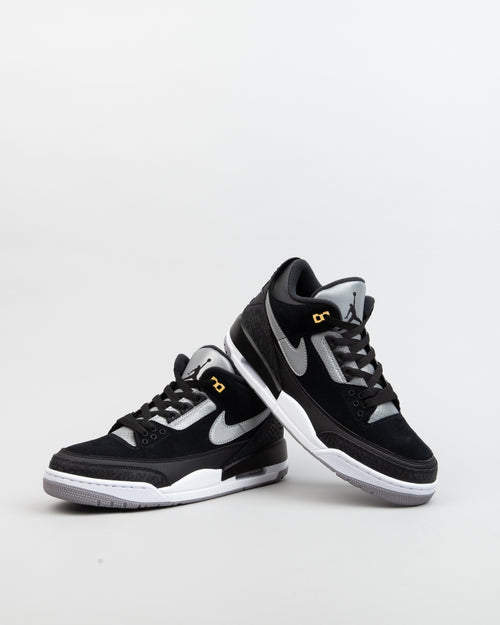 Air Jordan 3 Retro Tinker Black/Cement Grey/Metallic Gold 2
