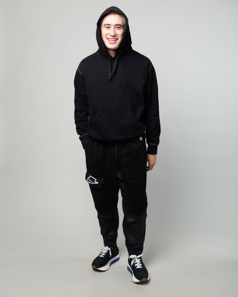 Hooded Nebraska Sweatshirt Black/White