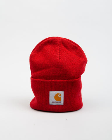 Acrylic Watch Hat Blast Red