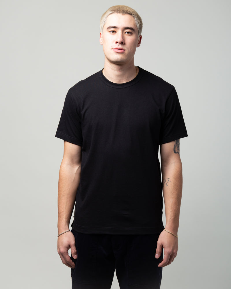 Side Zip T-Shirt Black