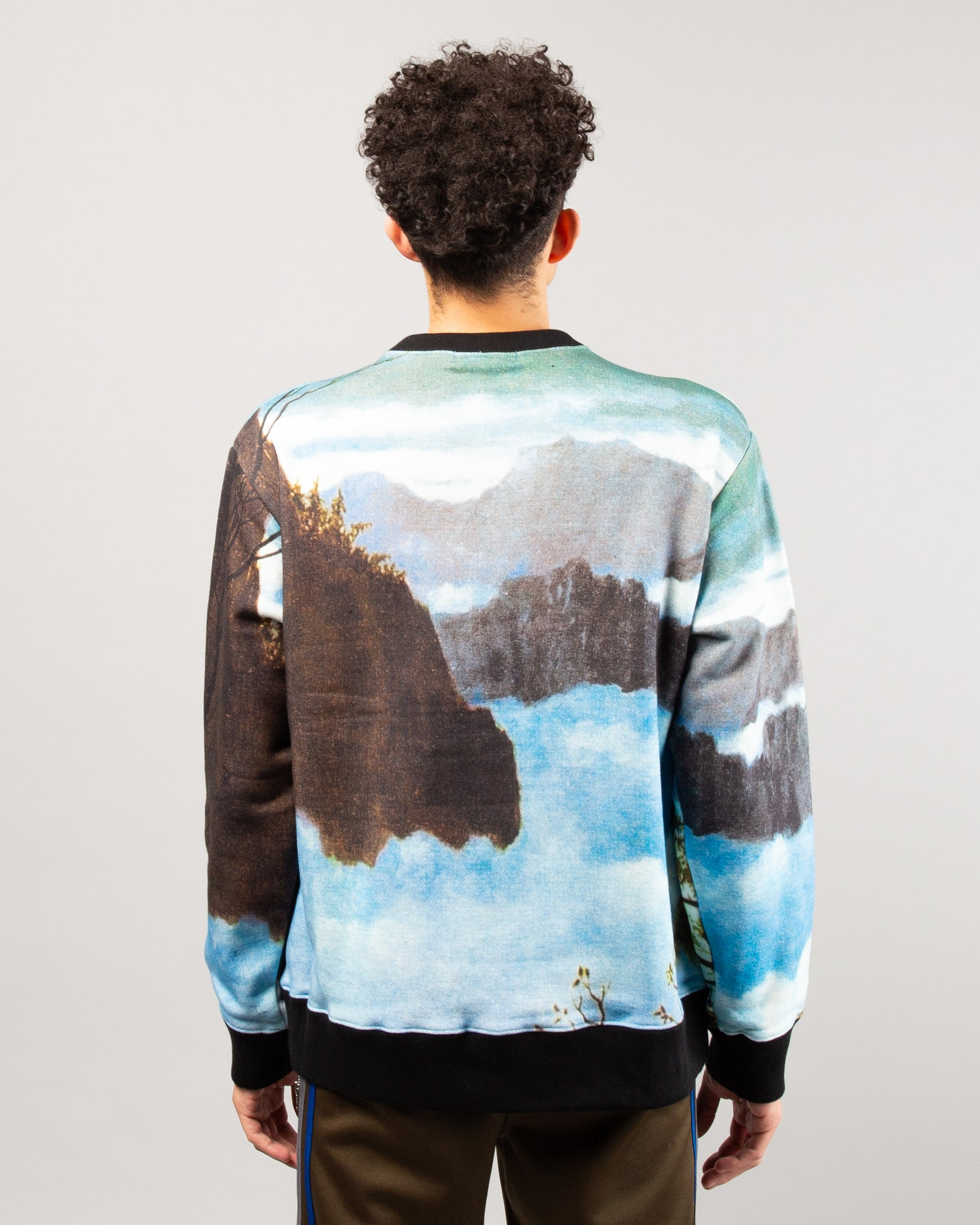 Graphic Sweater Light Blue
