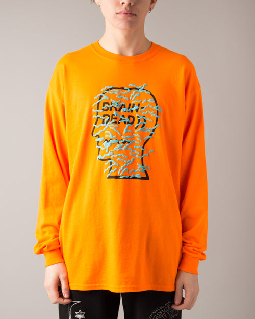 Infected Logo LS Tee Orange 1