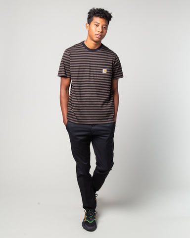 S/S Haldon Pocket T-Shirt Black/Cypress
