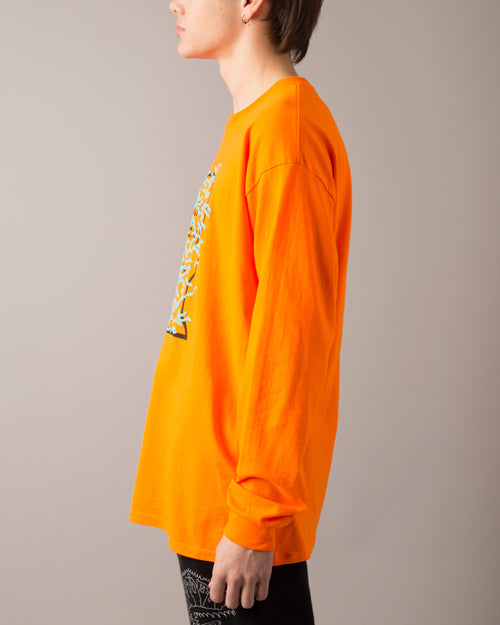Infected Logo LS Tee Orange 2