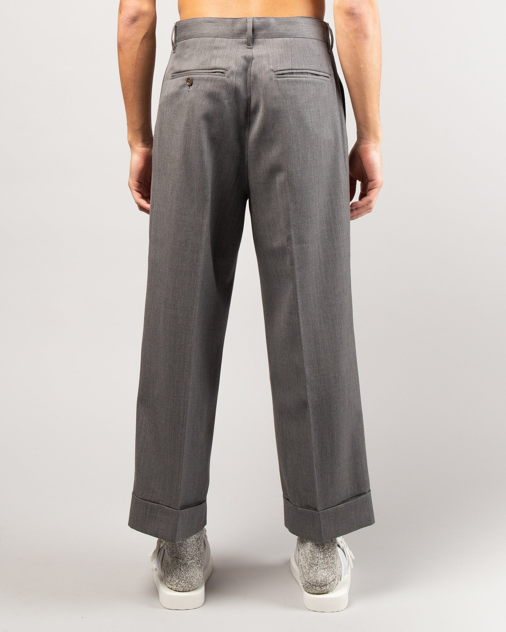 Wide Leg Trousers Gray