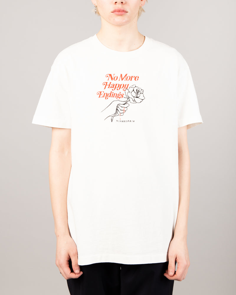 No More Happy Endings Tee White