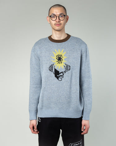 Mondo Knit Crewneck Sweater Teal 1