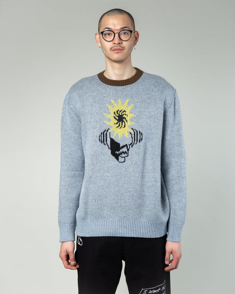 Mondo Knit Crewneck Sweater Teal