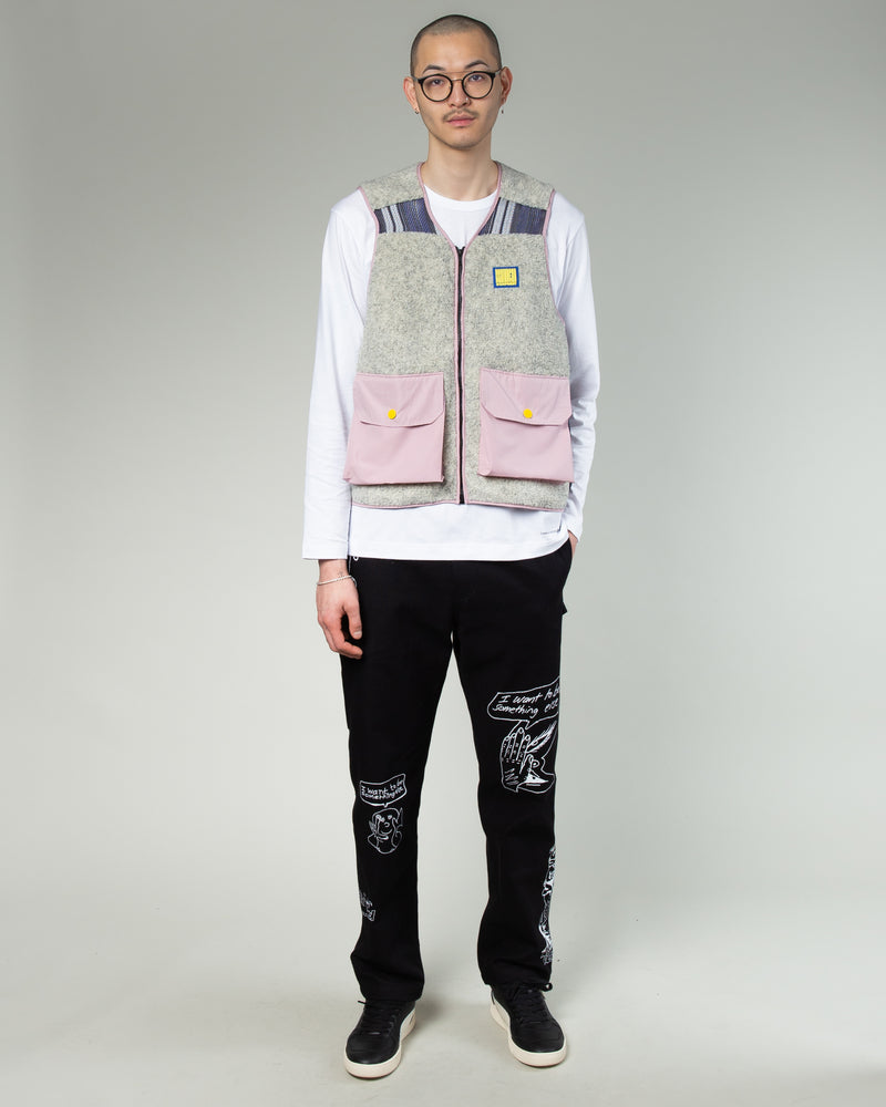 Sherpa Tactical Vest Cream/Dust Pink