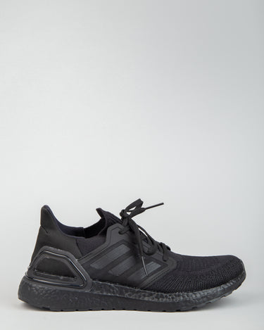 Ultraboost 20 Black/Black/Solar Red 1