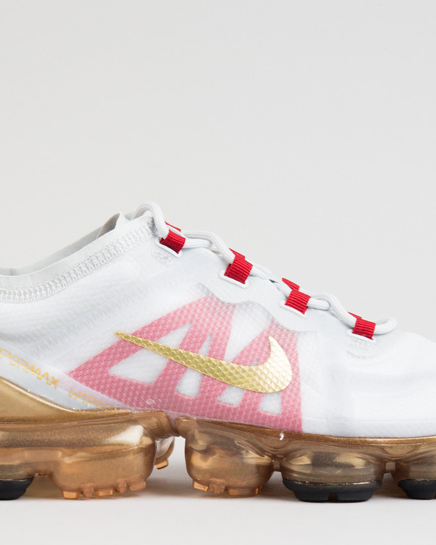 Air VaporMax 2019 CNY Pure Platinum/Metallic Gold/Gym Red