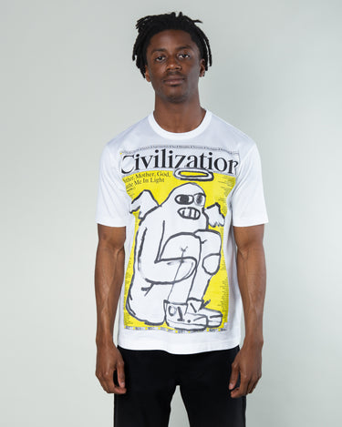 Civilization Graphic T-Shirt Red/White 1