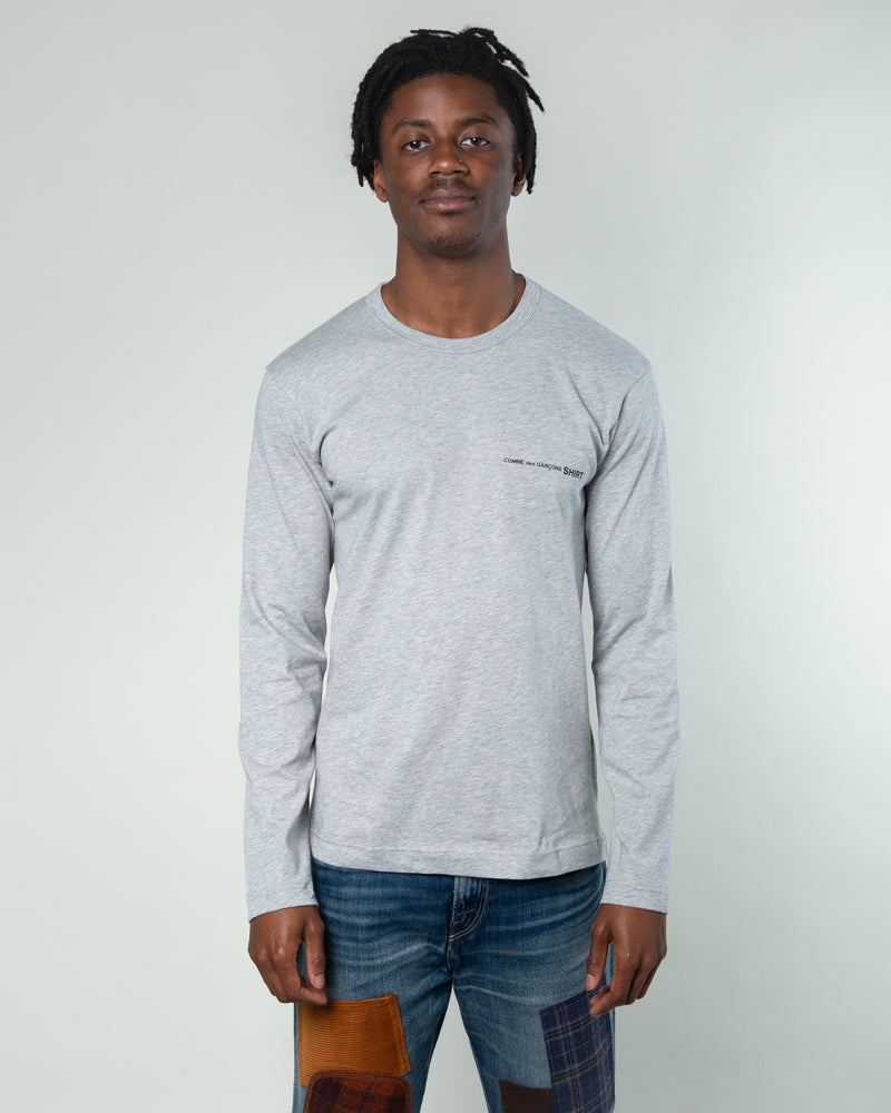 Chest Logo LS T-Shirt Grey