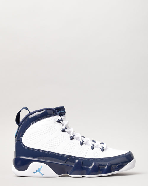 Air Jordan 9 Retro White/University Blue/Midnight Navy 1