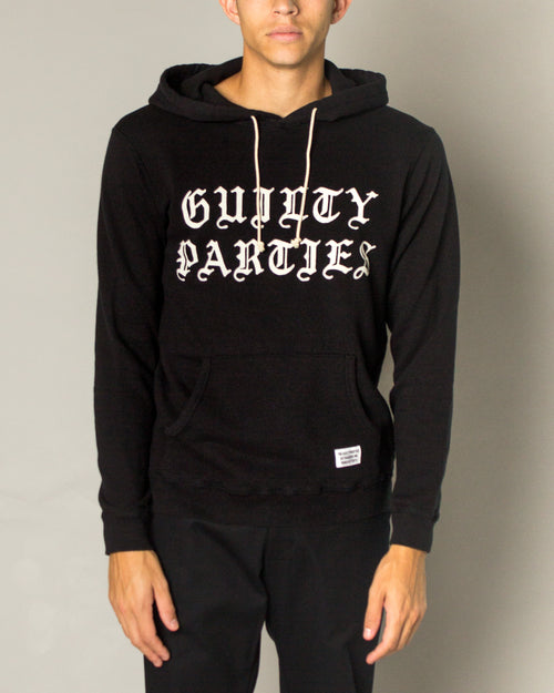 Guilty Parties Pullover Hooded Sweatshirt Black 1