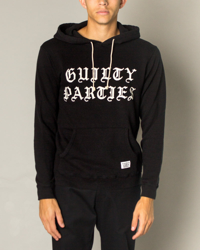 Guilty Parties Pullover Hooded Sweatshirt Black