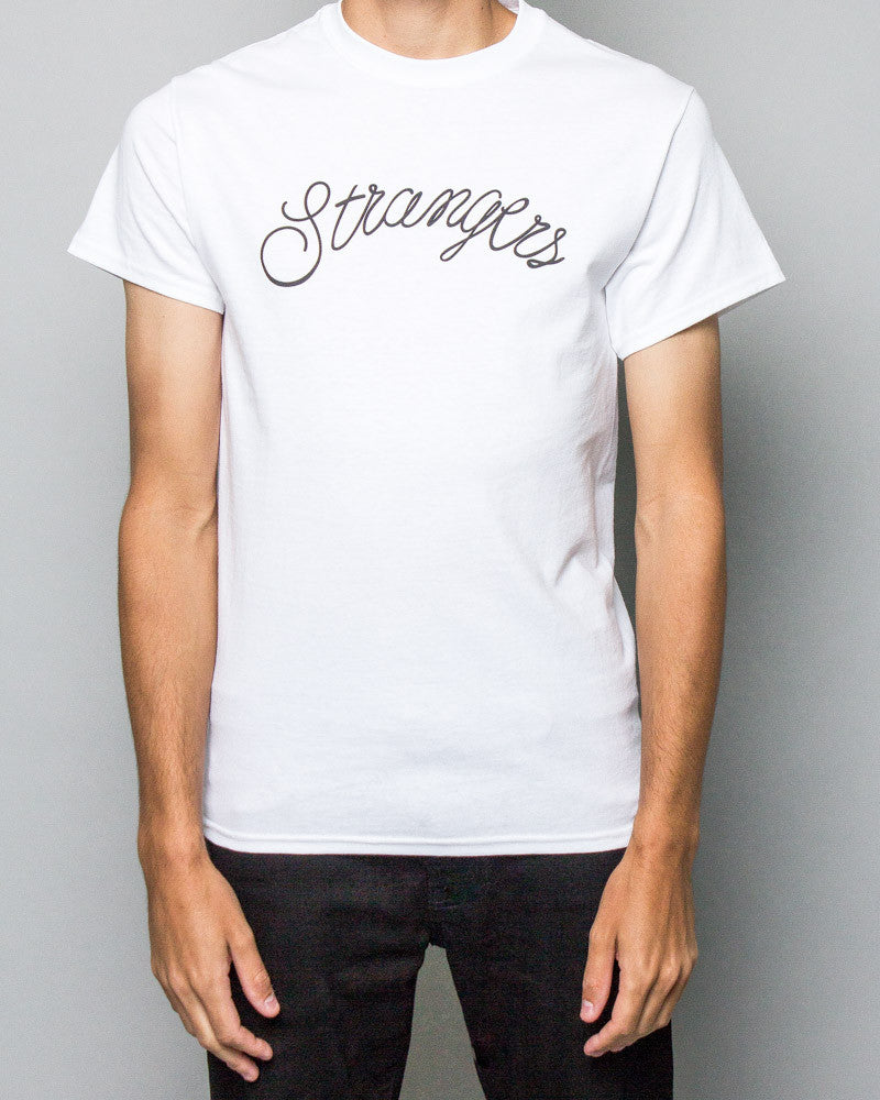 Here Comes the Strangers Tee White