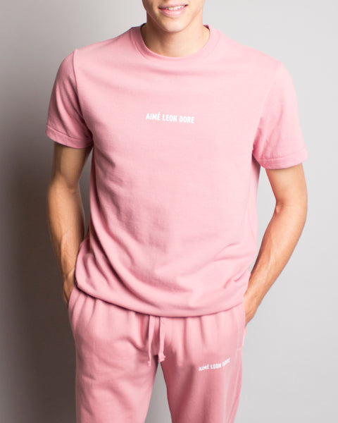 French Terry Sweat Pant Pink