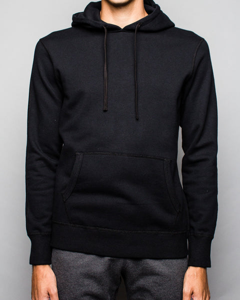 Midweight Terry Side Zip Pullover Hoodie Black Reigning Champ Mens Sneakers Seattle