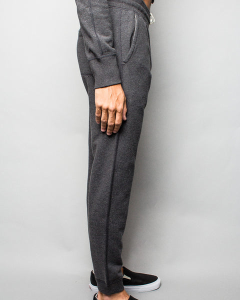 Midweight Terry Slim Sweatpant Charcoal