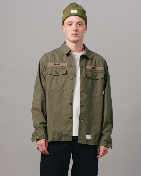 Buds Cotton Shirt Olive Drab