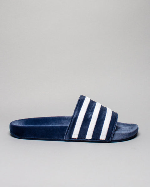 Adilette Velvet Mystery Blue Adidas Mens Sneakers Seattle