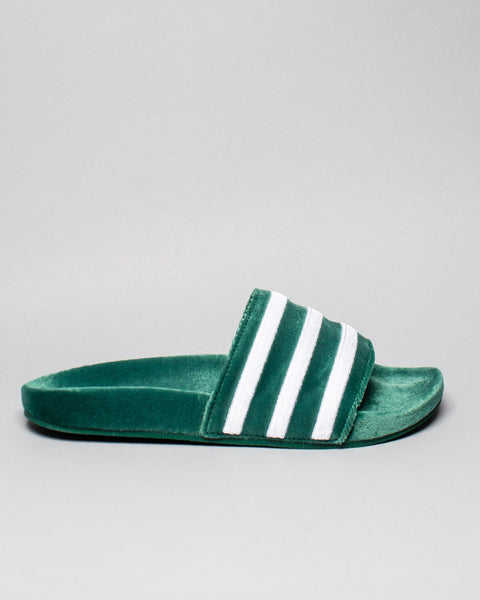 Adilette Velvet Core Green Adidas Mens Sneakers Seattle