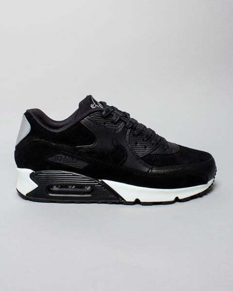 Air Max 90 Premium Black/Chrome Nike Mens Sneakers Seattle