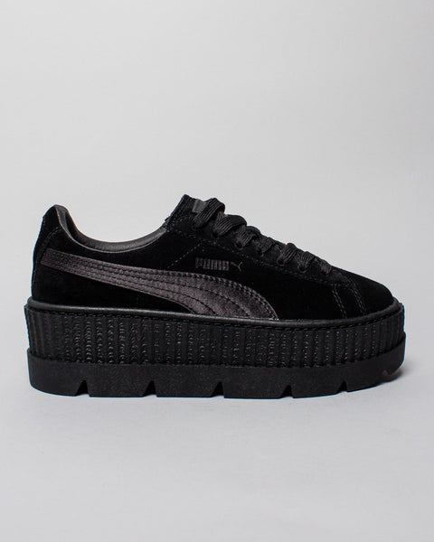 Cleated Creeper Suede WMNS Black Puma x Fenty Mens Sneakers Seattle