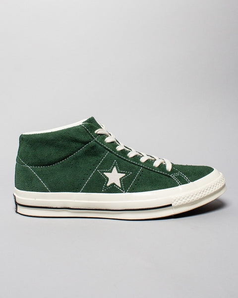 One Star Mid Green Converse Mens Sneakers Seattle