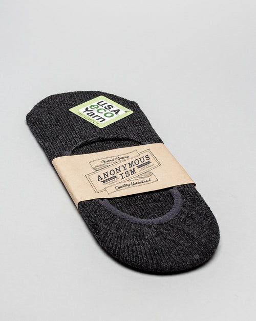 No Show Medium Weight Socks Charcoal 1