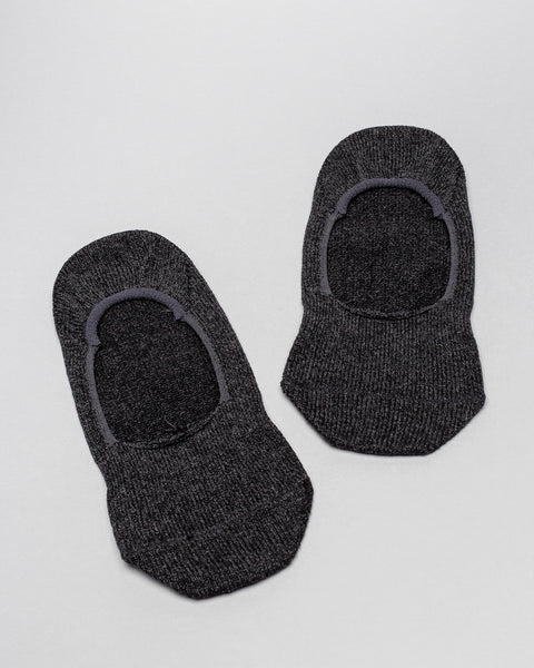 No Show Medium Weight Socks Charcoal