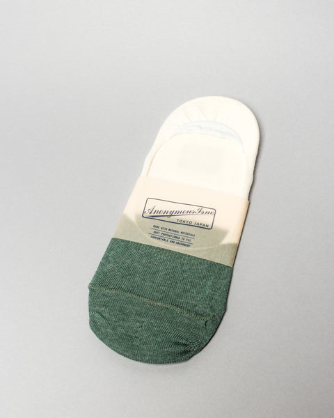 Sock Green/Cream No Show AnonymousIsm Mens Sneakers Seattle