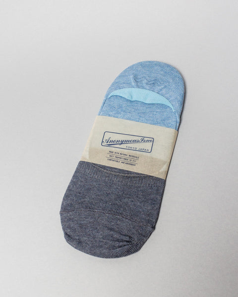 Sock Blue/Blue No Show AnonymousIsm Mens Sneakers Seattle
