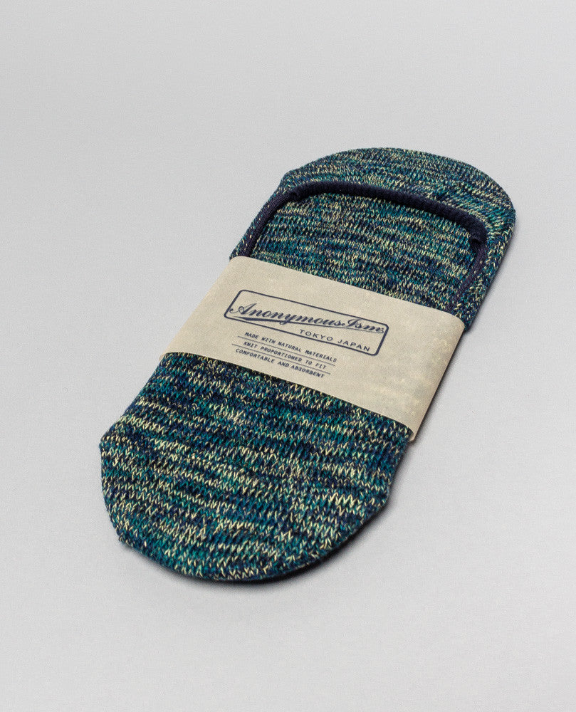 Sock Teal/Navy No Show