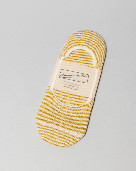Sock Mustard Stripe No Show AnonymousIsm Mens Sneakers Seattle
