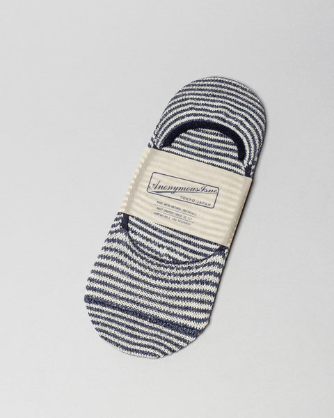 Sock Navy Stripe No Show AnonymousIsm Mens Sneakers Seattle