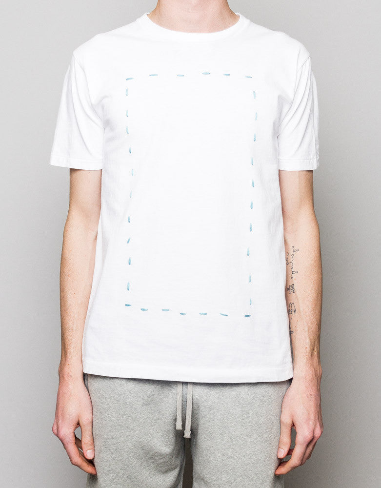 Dotted Stitch Tee White