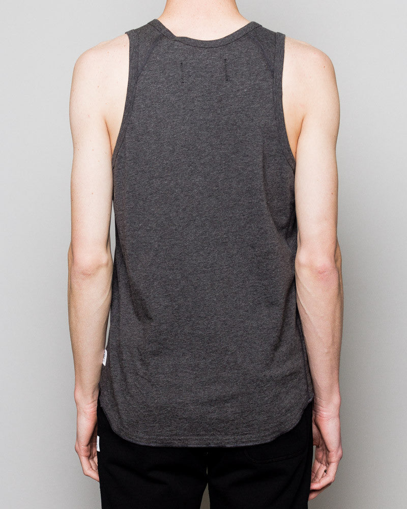 Knit Ringspun Jersey Tank Top Charcoal