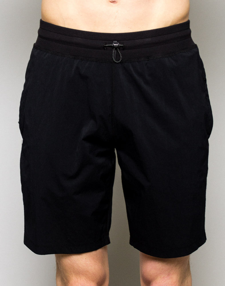 Woven Stretch Nylon Short Black