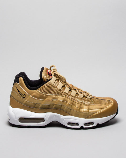 Air Max 95 QS Metallic Gold Nike Mens Sneakers Seattle