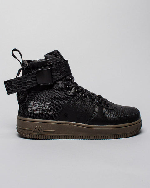 W SF AF1 Mid Black/Dark Hazel Nike Mens Sneakers Seattle