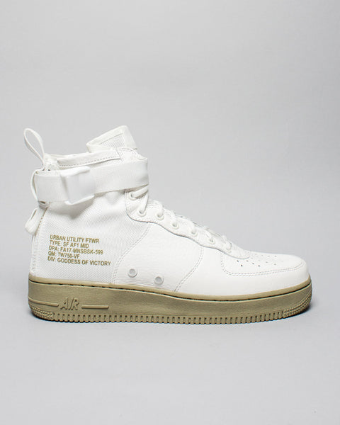 SF AF1 Mid Ivory/Cargo Khaki Nike Mens Sneakers Seattle